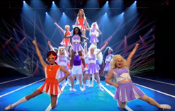 Drag Race Contestants in cheer pose