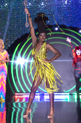 Symone yellow drag outfit